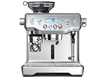 Sage Appliances – Máquina de café espresso, acero inoxidable cepillado Tampern und Milchschaum automatisch Brusched