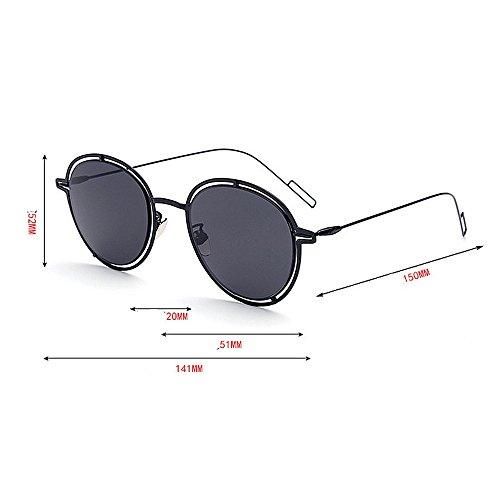 de UV plein plates lunettes de conduite air protection en bordée quotidien Lentilles miroir métal UV en couleur un pour de soleil usage Convient pour voyageant Couleur Rose la la plage par Les Noir xvdqT0xIw
