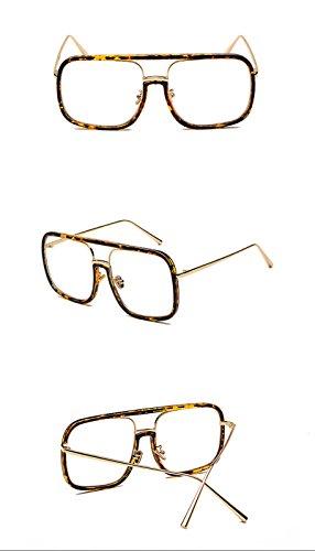 Gato Lente negro de Moda masculino hombres Mujeres clásico borde Mujer transparente Unisex Gafas DESESHENME gafas de Gafas la para de sol lente Ojo sol para patrón sol de de Gafas de borde espejo transparente Hombres de qEA8wp