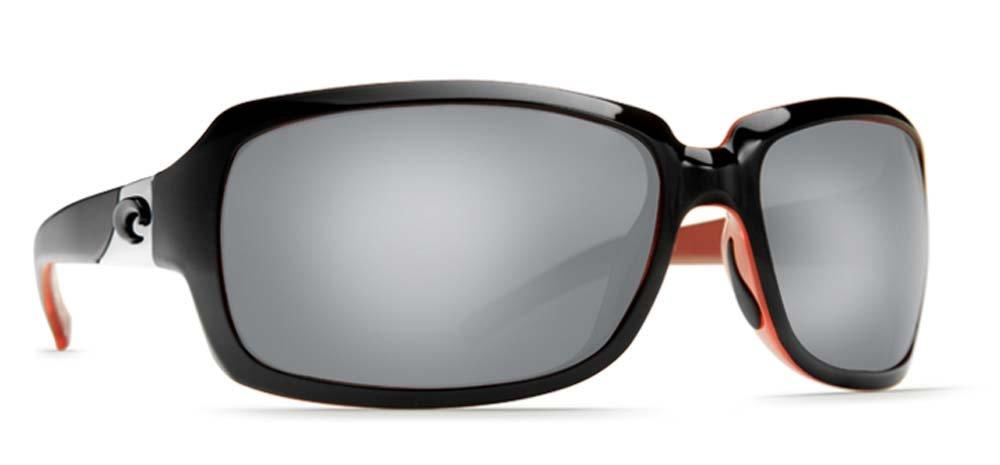 Costa Del Mar Isabela Sunglasses, Black/Coral, Silver Mirror 580P Lens
