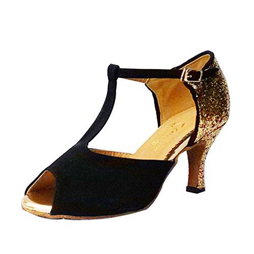 Monie , Damen Tanzschuhe , schwarz - schwarz - Größe: 38