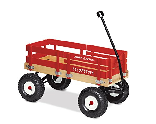 (Radio Flyer All-Terrain Cargo Wagon, Red Wood)