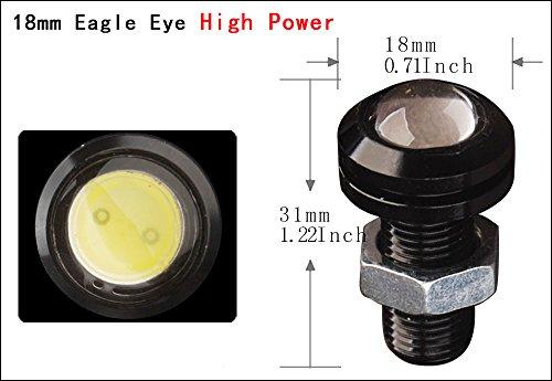 YITAMOTOR-10x-9W-Eagle-Eye-LED-18mm-Car-Fog-DRL-Daytime-Reverse-Backup-Parking-Signal-White-Bulb