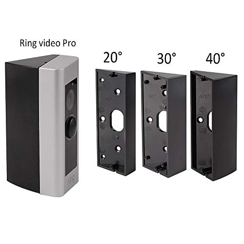- Doorbell Bracket Mount for Ring Video Doorbell Pro, Angle(20/30/40 Degree) Adjustment Adapter Mounting Plate Bracket Wedge Kit