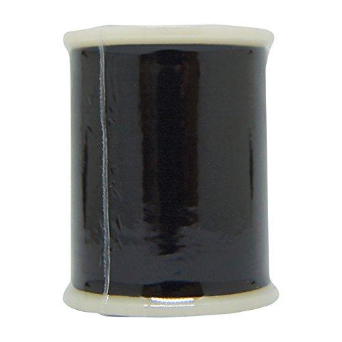 (YLI 20201-BLK 50wt T-27 Silk Thread, 100m, Black)