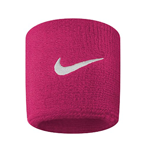 Nike Swoosh Wristbands OSFM Vivid Pink/White, Vivid Pink/White