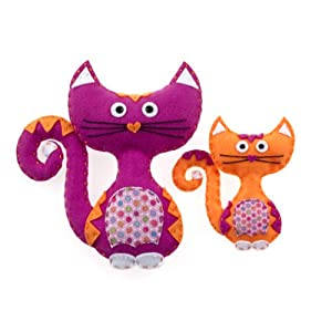 American Girl Crafts Cats Sew and Stuff Kit - 41W9VyH9XrL - American Girl Crafts Cat Sew and Stuff Activity Kit, DIY Cat Stuffed Animals
