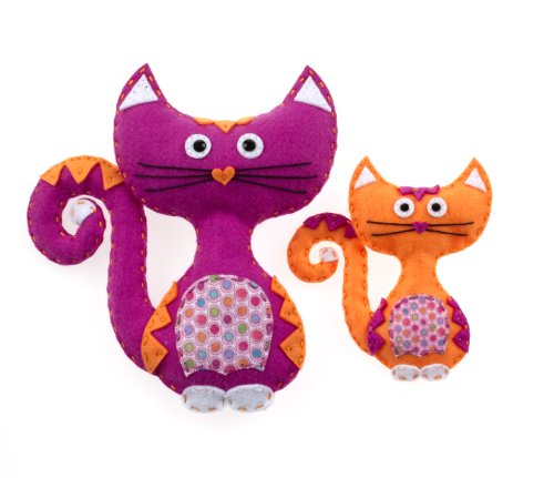 American Girl Crafts Cat Sew and Stuff Activity Kit, DIY Cat Stuffed Animals ()