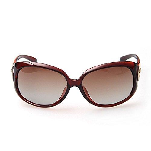G&T New Fashion Classic Womens Big Frame UV Gradient Lens Driving Polarized - Glare Anti Glasses Uk Driving Night