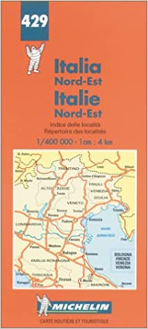Map Of North East Italy.Michelin Italy North East Map No 429 Michelin Maps Atlases