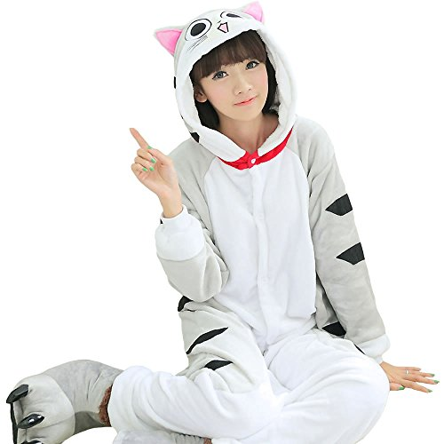 VIGEROUS Unisex-adult Kigurumi Onesie Christmas Day Halloween Costume Romper Pajamas S Cat -