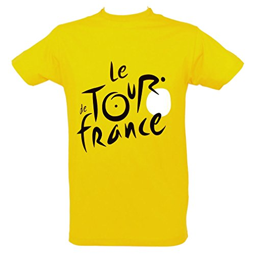 Le Tour de France - Official Tour de France 'Yellow Jersey' T-Shirt - Size : L - Color : Yellow