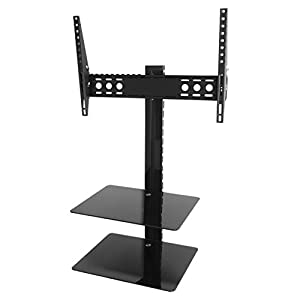 King Tilt & Turn TV Wall Mount Bracket With AV Wall Floating Shelf  Glass Shelves Perfect For Sky Box – would recommend this product