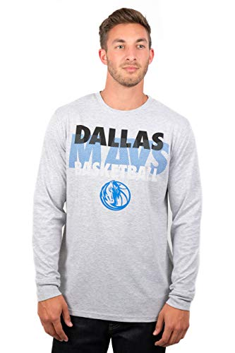 UNK NBA Adult Men T Supreme Long Sleeve Pullover Tee Shirt, Gray, X-Large