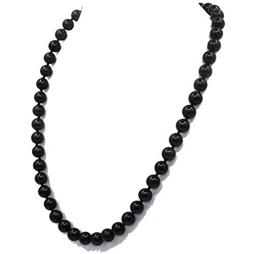 Bling Beauty Jewelry 8Mm Black Agate Ony - 18