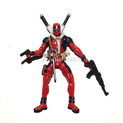 PAPWELL Deadpool Action Figure 3.7 inch Marvel Legends Xforce Xmen Hot Toys Antihero Figures Red Superhero PVC Toy Christmas Collectibles Halloween Collectible Gifts Collectable Gift for Kids Children