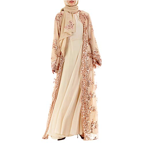Palalibin Women Shirt,Muslim Women Lace Sequin Cardigan for sale  Delivered anywhere in USA