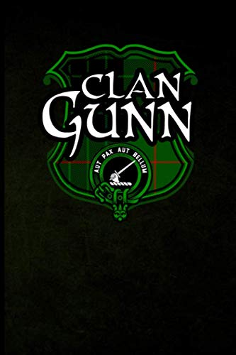 (Clan Gunn: Scottish Clan Tartan Plaid Shield - Blank Lined Journal with Soft Matte Cover)