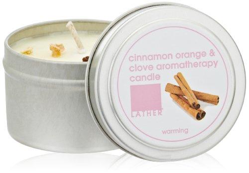 Пену Корица Orange & Гвоздика Ароматерапия свечи, 4-унция олова