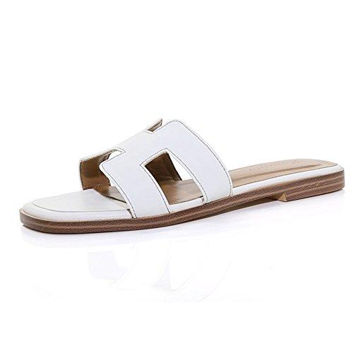 Femmes Pantoufles Pantoufles Mot Chaussures Sexy Couleur B CN41 Mode et d'été Plates Dames Sandales ZHANGRONG A Taille Sandales Porter Talon UK7 EU40 Sandales 5pzdq5w