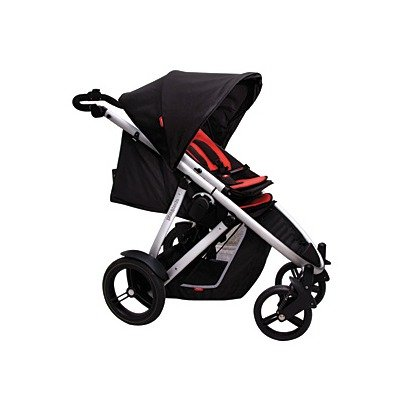 Phil & Teds Verve Stroller with Double Kit in Red Verve Stroller in Red by phil&teds