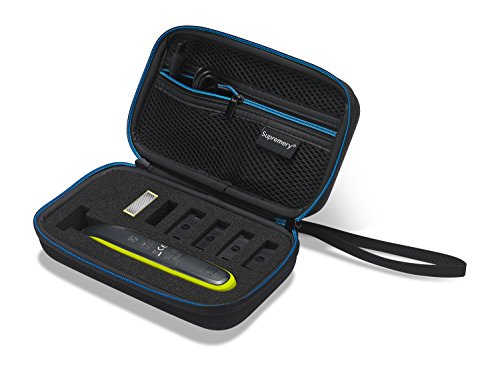 Buy cheap supremery case for philips norelco oneblade hybrid electric trimmer and shaver qp2520 black blue