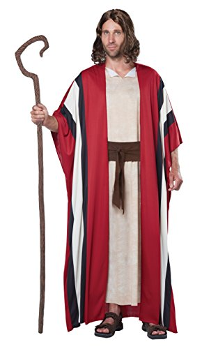 Biblical Costumes - California Costumes Men's Shepherd Moses Adult Costume, Red/Tan, Large/X-Large