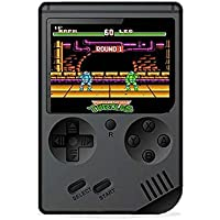 Nano Classic Retro FC Handheld Game Console 3 Inch Screen 168 Game Player -Black