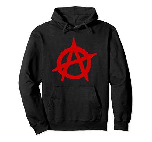 Anarchy Hooded Sweatshirt - Unisex Anarchy Logo Hoodie Sweatshirt Large Black
