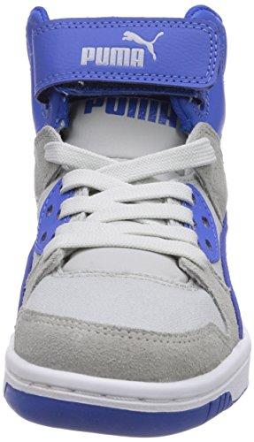 Puma Rebound Street CVS Unisex-Kinder Hohe Sneakers Grau (limestone gray-gray violet-white-strong blue 02)