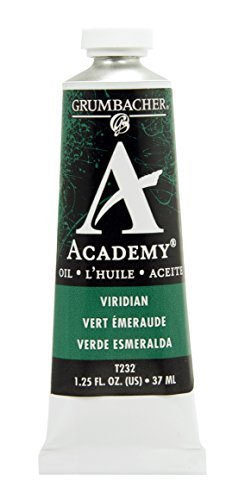 Grumbacher Academy Oil Paint, 37 ml/1.25 oz, Viridian Hue