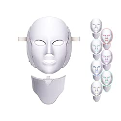 7 Colors LED Mask Face & Neck Neon-glowing LED Face Mask Electric Facial Skin Care Face Skin Beauty