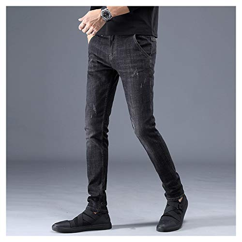 Shopping Go Jeans Black Dritti Fashion Easy Stretch Street Uomo In Da Slim Cotone 1SqCdwfn