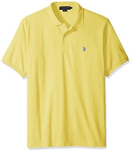 U.S. Polo Assn. Men's Classic Polo Shirt, Lemon Frost, XXL