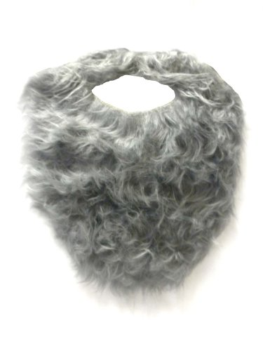 [Jacobson Hat Company Men's Beard with Elastic, Grey, Adult, One Size] (Costumes With Beards)