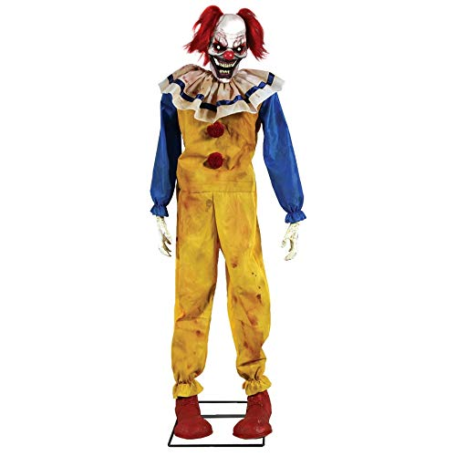 Spirit Halloween Clown Costumes - Twitching Clown Animated Halloween Prop Animated