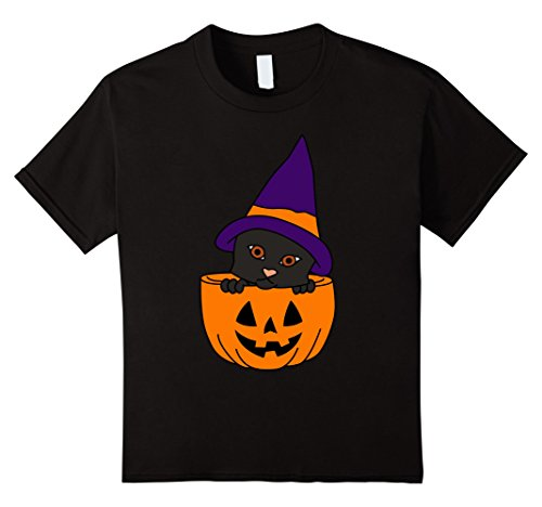 Kids Black Cat Happy Halloween T-Shirt | Cute Black Cat Shirt 6 Black (Happy Halloween Black Cat)