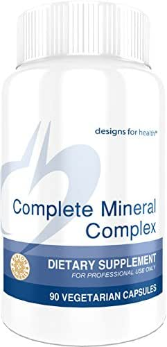 Designs for Health Complete Mineral Complex - Chelated Multimineral Without Iron (90 Capsules)