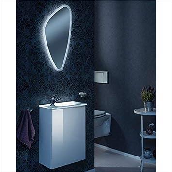 Schon Fackelmann Gäste WC Set KARA / Spiegel, Armatur, Waschbecken Mit  Unterschrank Und Beleuchtung /
