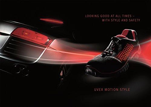 Uvex Motion - Calzado de protección para hombre, color negro, talla 42 Negro - negro