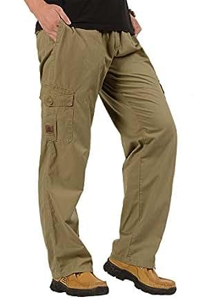 CardanWolf - Pantalones de Trabajo Cintura Elástica