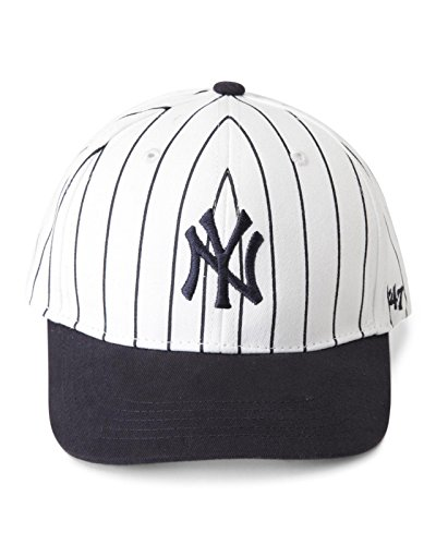 47 Brand New York Yankees MLB Infant Basic MVP Cap - Navy Blue (Pinstripe White/Blue, Infant)