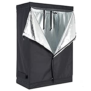 Reflective 600d mylar hydroponic indoor grow tent room 48 inch x24 inch x72 inch non toxic hut