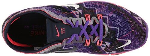 Nike Wmn Nike Free 5.0 Tr Fit 4 Prt - Zapatillas para mujer 0 (OBSDN/IVRY-HYPR GRP-HYPR PNCH)