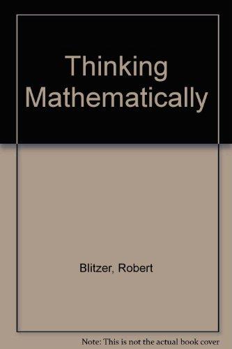 Thinking Mathematically Third Edition