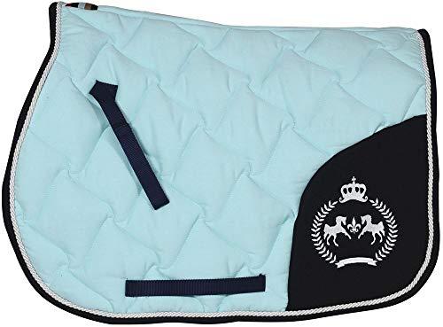 Equine Couture Beatta All Purpose Saddle Pad Blue Glass STD