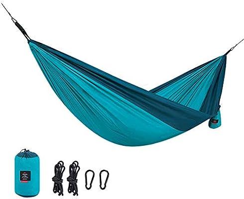 Hamaca Hamaca de jardín al Aire Libre Doble Rollover Hamaca Columpio Hamaca Campo Silla de Camping Solo Hamaca Carga Peso 180 kg (Color : Orange, Size : 290 * 148CM): Amazon.es: Jardín