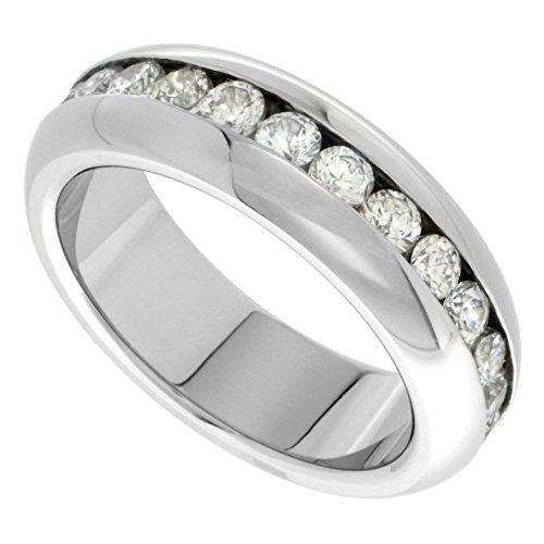 Stainless Eternity wedding Stones Polished