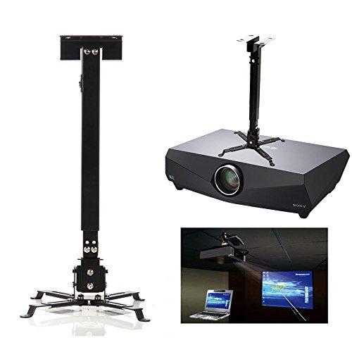 mount-ceiling-universal-projector-bracket-lcd-dlp-tilt-360-swivel-black-adjustable-extendable-lbs-66