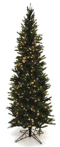Good Tidings Special Happy Corp LTD Oregon Pine Artificial Prelit Christmas Tree, 6-1/2-Feet, Clear Lights, Green